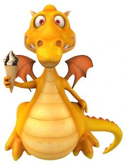 Dragon amusant - personnage 3d