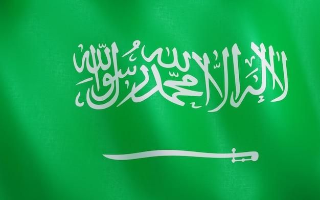 Drapeau 3d de l'arabie saoudite.