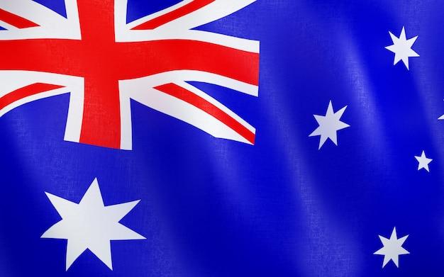 Drapeau 3d de l'australie.