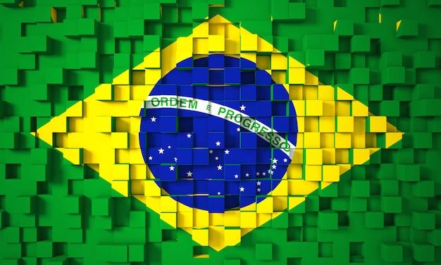 Drapeau 3d brésilien