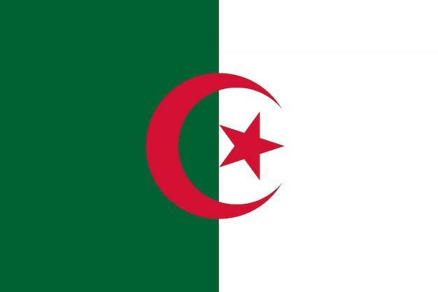 Drapeau de l'algérie. illustration du drapeau algérien.