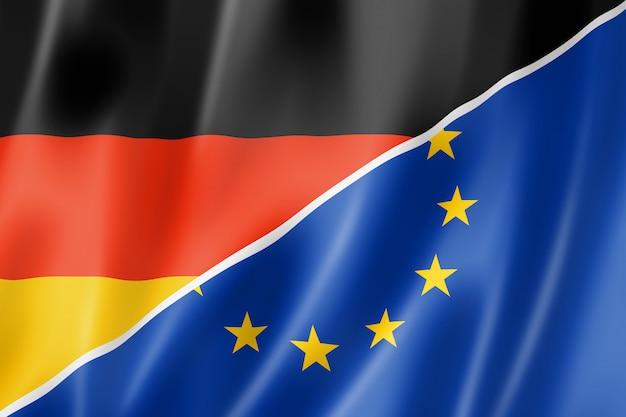 Drapeau allemagne et europe