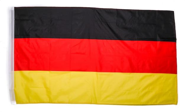 Drapeau allemand sur blanc