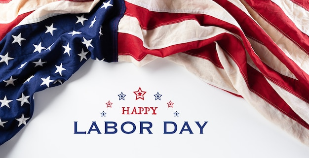 Drapeau américain, bannière de bonne fête du travail
