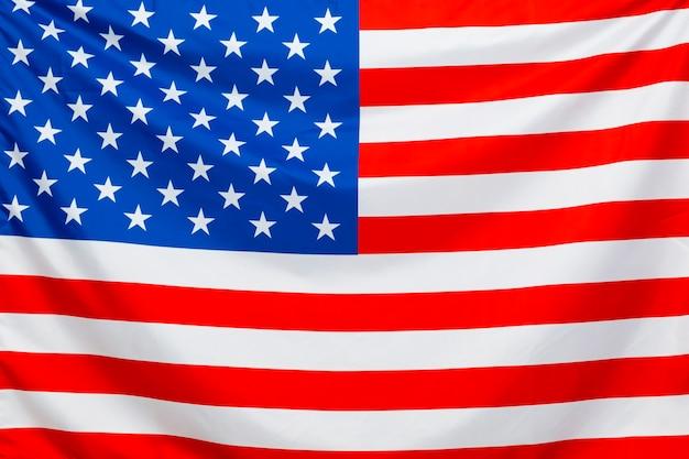Drapeau américain, gros plan. le jour de l'indépendance.