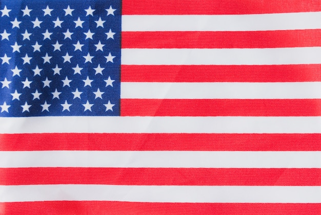 Drapeau américain plat