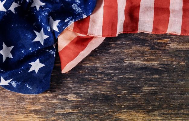 Drapeau américain à volants jour de l'indépendance pour le jour du souvenir