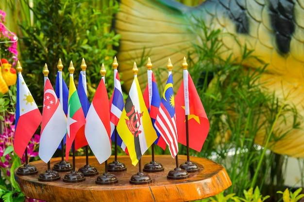 Drapeau de l'association des nations de l'asie du sud-est