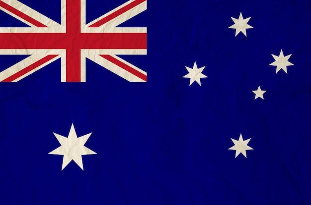 Drapeau de l'australie avec du vieux papier vintage