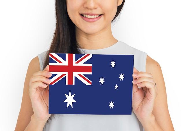 Drapeau de l'australie pays union jack