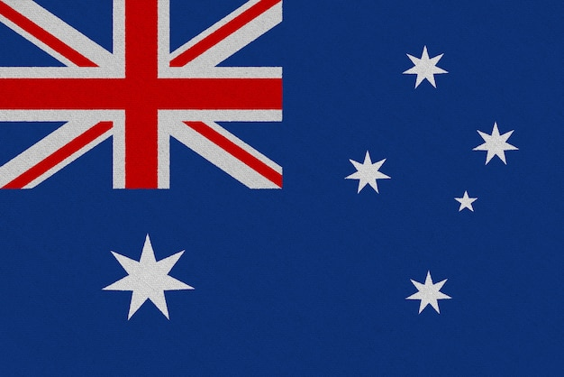 Drapeau australie en tissu