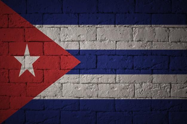 Drapeau aux proportions originales. gros plan du drapeau grunge de cuba