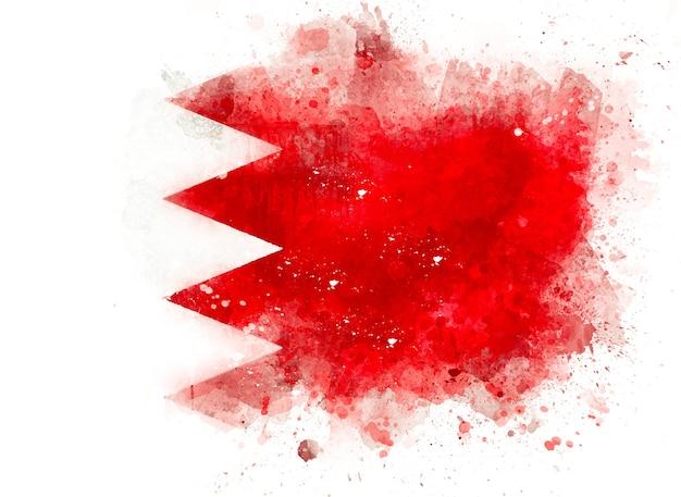 Drapeau de bahreïn comme illustration aquarelle