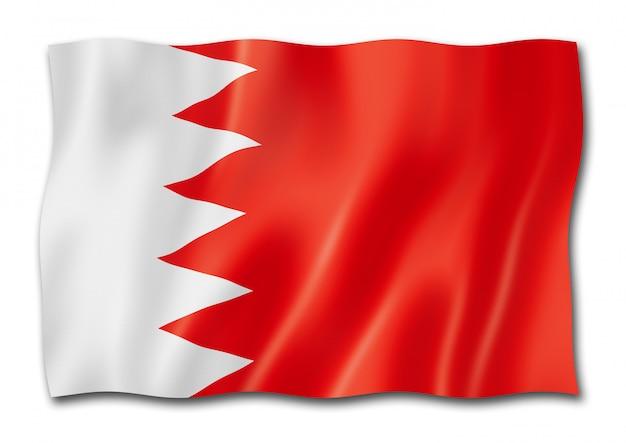 Drapeau bahreïn isolé sur blanc