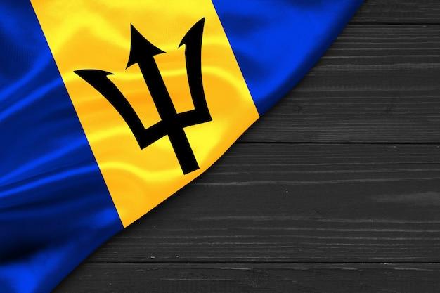 Drapeau de la barbade copie espace