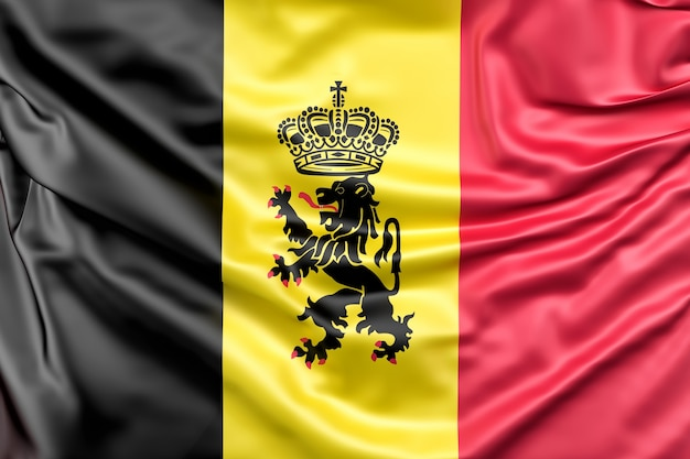 Drapeau de la belgique avec l'enseigne