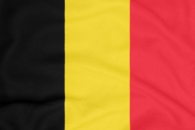 Drapeau de la belgique sur tissu texturé