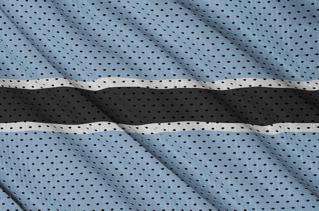 Drapeau botswana imprimé sur un tissu en maille de sportswear en nylon polyester