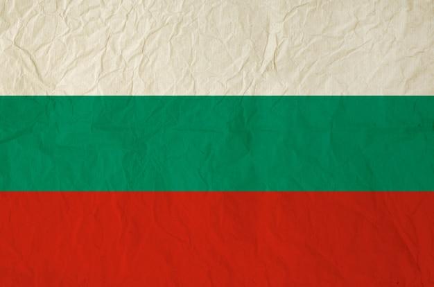 Drapeau de la bulgarie avec du vieux papier vintage