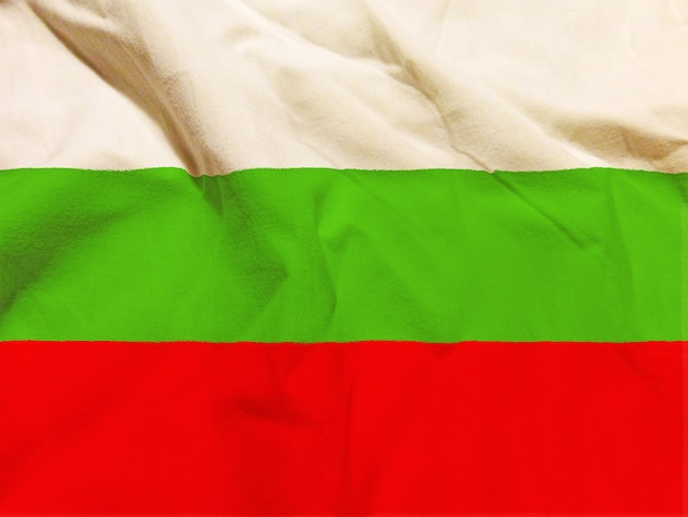 Drapeau de la bulgarie avec texture sur fond