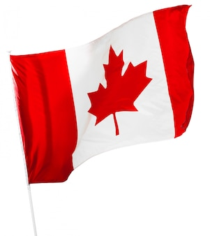 Drapeau canadien isolé sur blanc