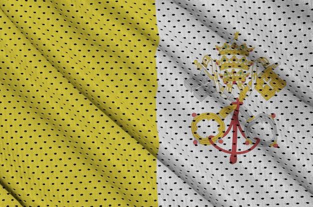 Drapeau de la cité du vatican imprimé sur un filet en nylon et nylon