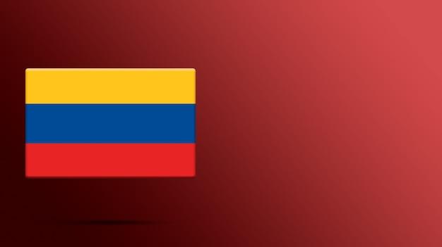 Drapeau de la colombie sur une plate-forme réaliste