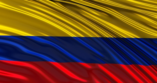 Drapeau colombie pour memorial day, colombie waving flag, independence day.