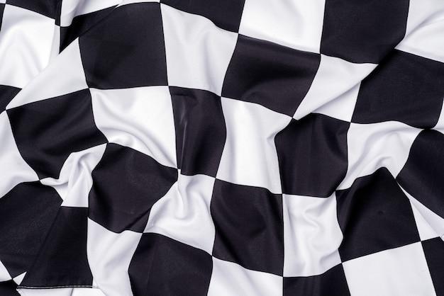 Drapeau à damier, fond de fin de course, compétition de formule 1.