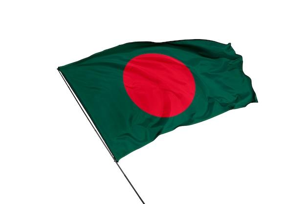 Drapeau du bangladesh sur fond blanc
