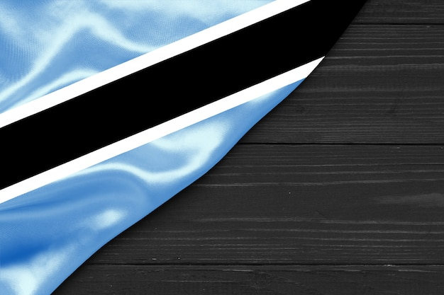 Drapeau du botswana copy space