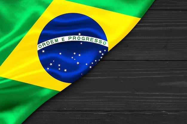 Drapeau du brésil copie espace