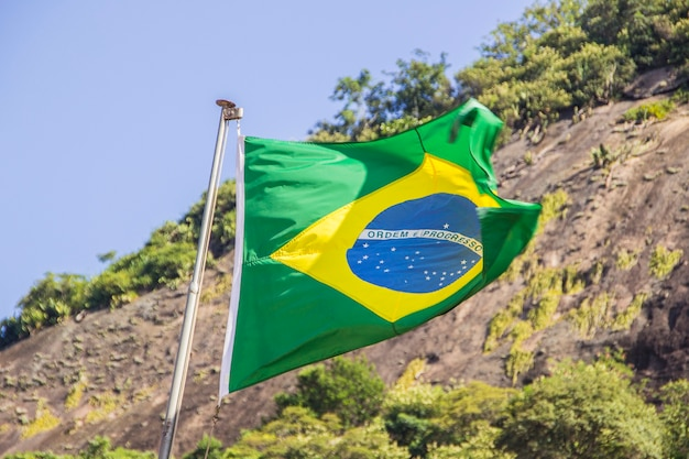 Drapeau du brésil en plein air