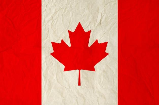 Drapeau du canada avec du vieux papier vintage