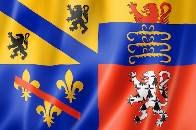 Drapeau du comté d'ain, france