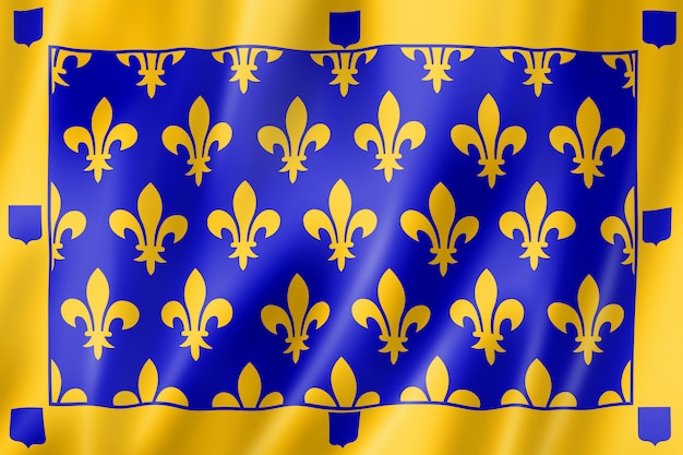 Drapeau du comté d'ardèche, france