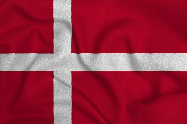 Drapeau du danemark de l'usine de tissu tricoté