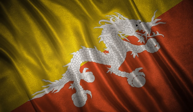 Drapeau du fond du bhoutan