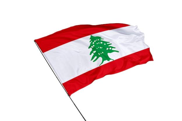 Drapeau du liban sur fond blanc