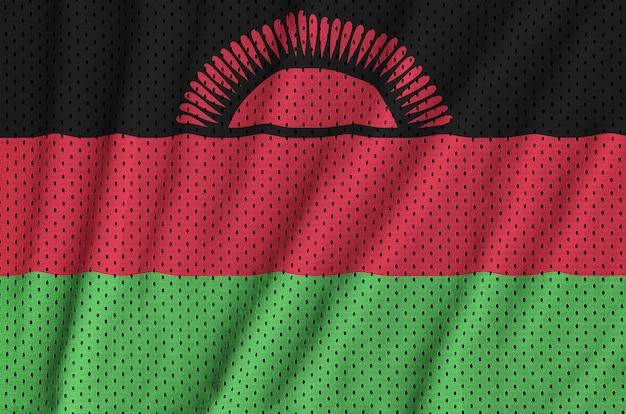 Drapeau du malawi imprimé sur un tissu de sportswear en nylon et polyester