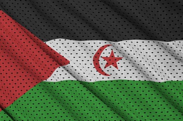 Drapeau du sahara occidental imprimé sur un maillage en nylon et nylon