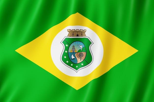 Drapeau de l'état de ceara au brésil