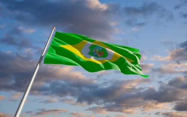 Drapeau de l'état du brésil ceara. illustration 3d