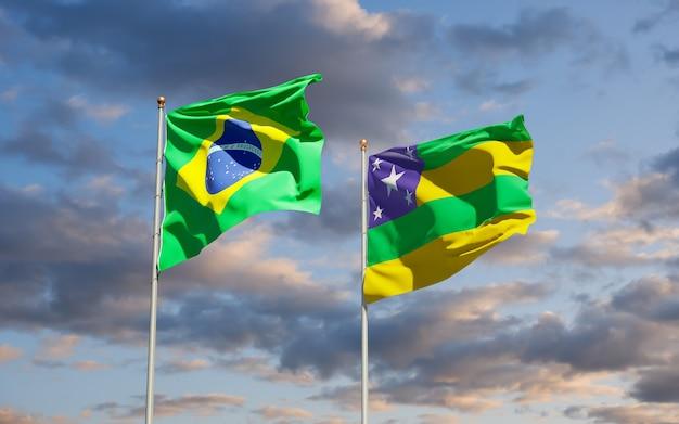 Drapeau de l'état du brésil sergipe. illustration 3d