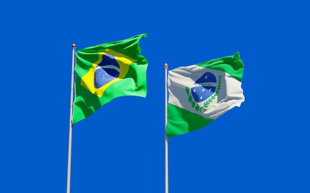 Drapeau de l'état du parana brésil. illustration 3d