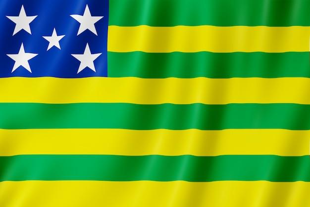 Drapeau de l'état de goias au brésil