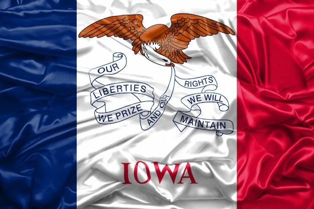 Drapeau de l'état de l'iowa aux états-unis d'amérique