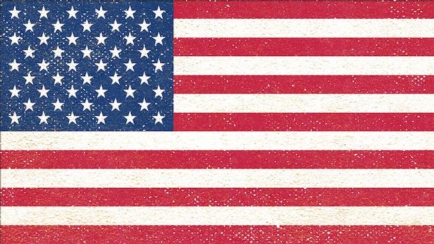 Drapeau des états-unis d'amérique - drapeau de style vintage