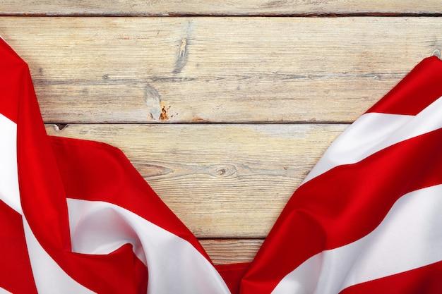 Drapeau des états-unis d'amérique. états-unis: fête des anciens combattants, du mémorial, de l'indépendance et de la fête du travail.