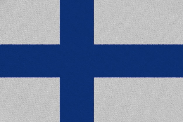 Drapeau de la finlande en tissu